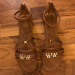Brown and gold DV women's sandals